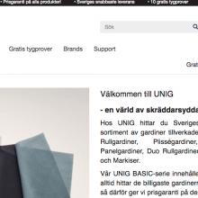 UNIGgardin – nordens ledande förhandlare av gardiner